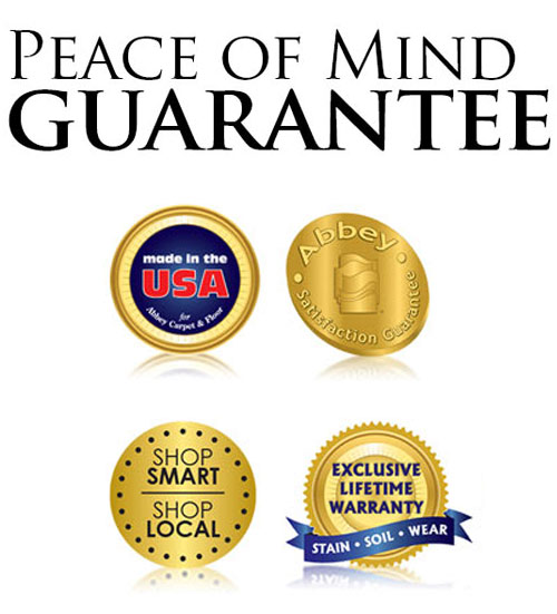 Abbey ensures Peace of Mind with our Exclusive Lifetime Warranty, Made in the USA, and 60-Day Satisfaction Guarantees